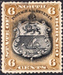 North  Borneo #84 Used  Thinned
