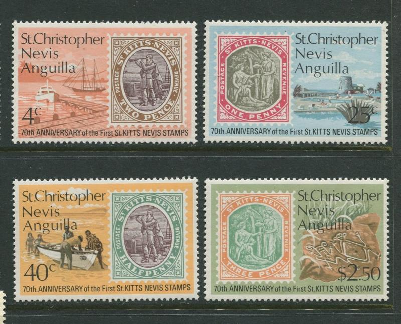 St. KITTS-NEVIS-Scott 270-73 -Anniv. First Stamp -1973- MNH - Set of 4 Stamps
