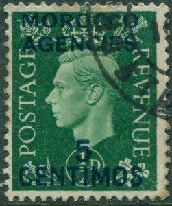 Morocco Agencies 1937 SG165 5c on ½d green KGVI FU