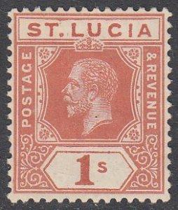 St. Lucia 71 MH CV $20.00