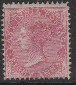INDIA SG73 1868 8a ROSE DIE II UNUSED