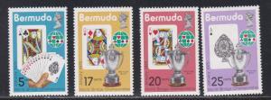 Bermuda # 312-315, World Bridge Championships, NH, 1/2 Cat.