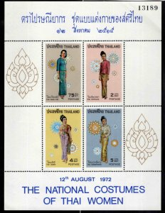 Thailand Scott 632a MNH** Womens Costume dresses CV 40$