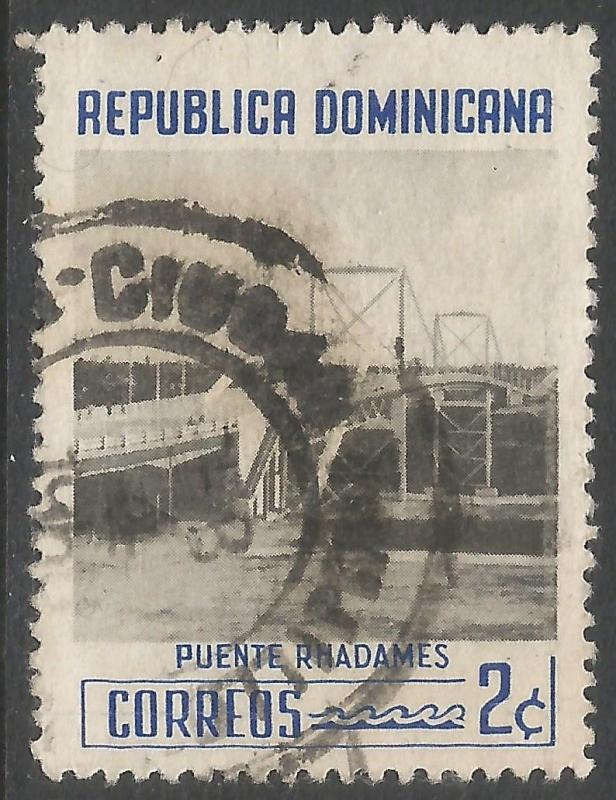 DOMINICAN REPUBLIC 519 VFU BRIDGE 401F-3