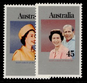 AUSTRALIA QEII SG645-646, 1977 silver jubilee set, NH MINT.