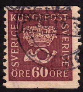 1920, Sweden 60ö, Used, Sc 161
