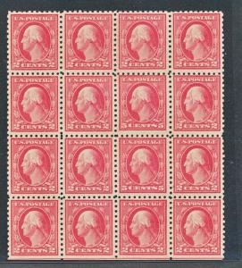 UNITED STATES 467 MINT NH BLOCK OF 16 DOUBLE ERROR, PERF 10