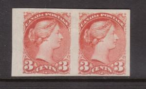 Canada #41b VF Mint Imperf Pair