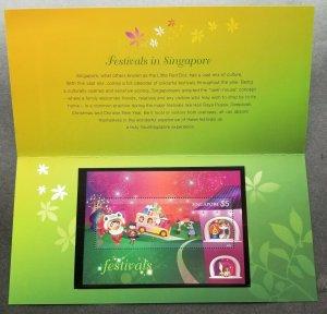 Singapore Festivals 2012 Diwali Fireworks Lion Dance Christmas Raya (p.pack) MNH