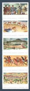 5372-76 (5376a) Post Office Murals Strip Of 5 Mint/nh FREE SHIPPING