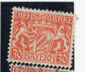 Bayern 1916 Official Early Issue Fine Mint Hinged 30pf. NW-10801