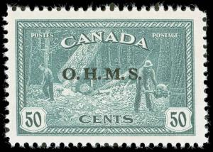 Canada Scott O1-CO1 Gibbons O162-O171 Never Hinged Set of Stamps