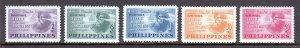 Philippines - Scott #537-539, C68-C69 - MH - SCV $5.15