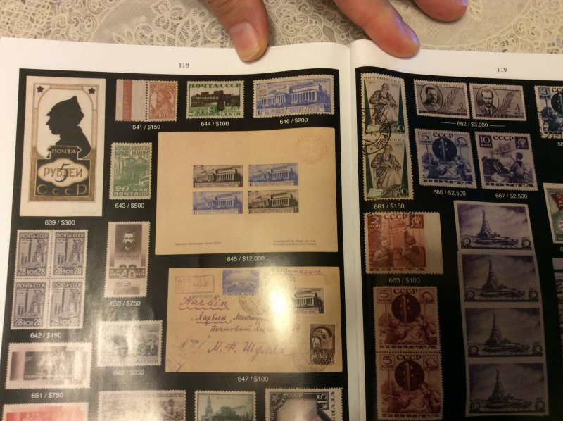 Raritan Stamps Action # 79 Sep.14-15,2018,Rare Russian & Worldwide postage,NEW !