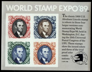 #2433 90c World Stamp Expo S/S - XF og NH - w/FREE SHIPPING