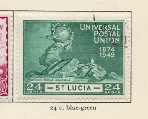 St Lucia 1949 GVI Early Issue Fine Used 24c. NW-154989