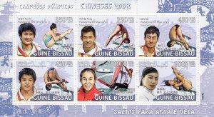 Guinea-Bissau 2009 OLYMPIC BEIJING Sailing Sheetlet (6) MNH