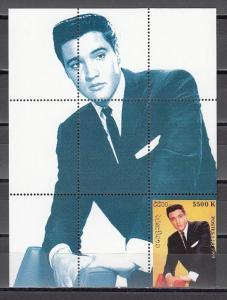 Laos, 1999 Cinderella issue. Elvis Presley s/sheet. ^
