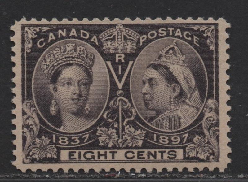 $Canada Sc#56 M/NH/VF, 8c Jubilee, AIEP Cert., Cv. $325