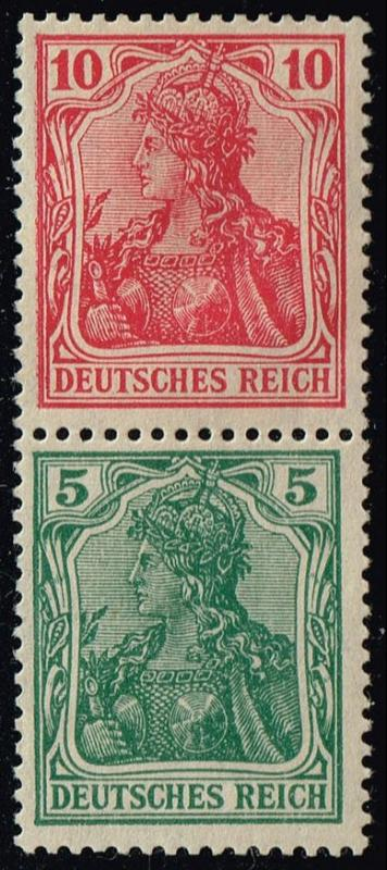 Germany #82+83 Germania; Unused Se-tenant Pair