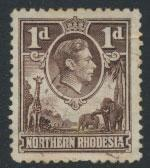 Northern Rhodesia  SG 27  SC# 27 Used  see detail and scan