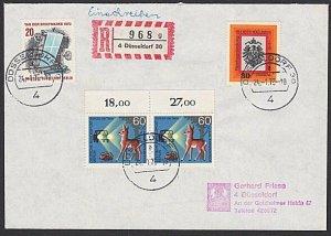 GERMANY Berlin : 1973 registered cover - nice franking......................K327