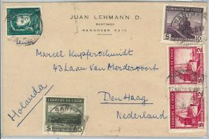 62258 -  CHILE - POSTAL HISTORY -  COVER to THE NETHERLANDS 1955 - TRAINS