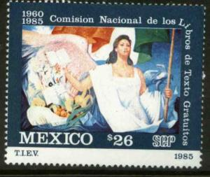 MEXICO 1426 25th Anniv of Free Textbook Program MINT, NH. VF.