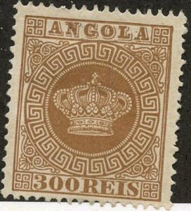 Angola, Scott #9, Unused, Hinged
