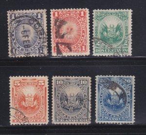 Peru 104-106, 108, 110, 112 U Various