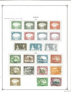 Aden 1937-1963 M & U in Mounts on Scott International Pages.