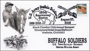 2016, Buffalo Soldiers Anaheim CA, BW Pictorial, 150th Aniv, 16-312