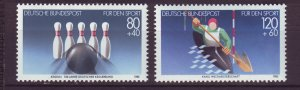 J24579 JLstamps 1985 germany set mnh #b628-9 sports with bowling