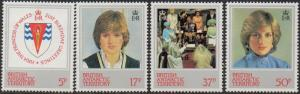 BRITISH ANTARCTIC TERRITORY 1982 21st Birthday of Princess of Wales MNH