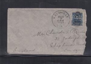 Cover Kaysville Utah to London England 1903