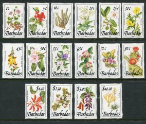 Barbados Scott 753/68 768 Plants Life Set of 16 - 1989-1992 - No 35c or 90c NH