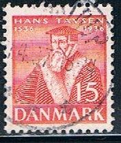 Denmark 255, 15o Hans Tausen, used, VF