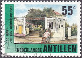 Netherlands Antilles # 629 used ~ 55¢ St. Rose Hospital and St. Maarten's Home