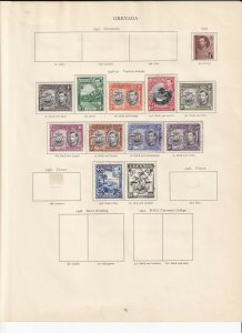 GRENADA GEORGE 6TH CROWN ALBUM PAGES 1938 SET MINT/USED TO 5/-