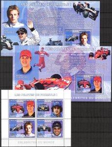 Congo 2006 Formula -1 Pilots sheet+ 4 S/S MNH 2 scans
