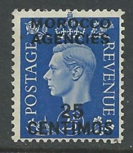Great Britain - Morocco # 86 George VI (1)  VF Unused VLH