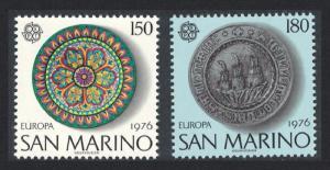 San Marino Europa Handicrafts 2v SG#1060-1061