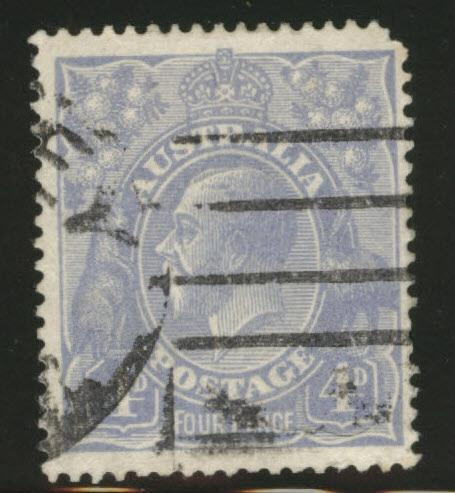 AUSTRALIA Scott 33 used KGV stamp 1922 CV$11.50 rounded cnr