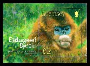 Guernsey 2004 Golden Snub-nosed Monkey, Animals S/S £2 Scott.816 Used