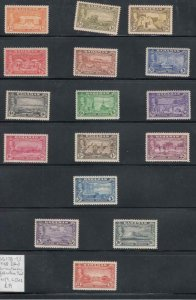 BAHAMAS # 178-193 VF-MLH KGV1 ISSUES TO £1 COMPLETE