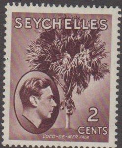 SEYCHELLES Scott #125 - hinged - mint / Coco de Mer palm