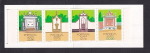 Portugal  Azores   #357a-360a  1986   MNH booklet  regional architecture