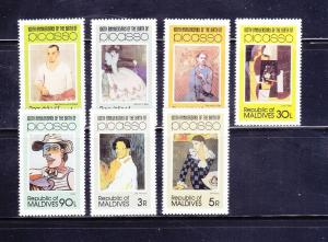Maldive Islands 913-919 Set MNH Art, Pacasso Paintings