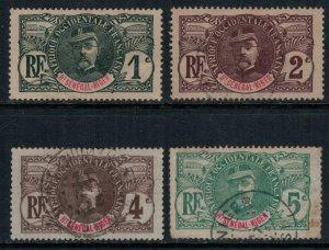 Upper Senegal & Niger #1-4  CV $8.75  (#1* no gum)