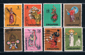 Singapore  86-90;92;93;95 Used Dancers (S0447)